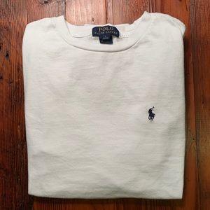 Polo Ralph Lauren white longsleeve shirt (Youth L)